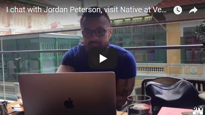 I chat with Jordan Peterson, visit Native at Vesper, & work outdoors | DTVlog 6