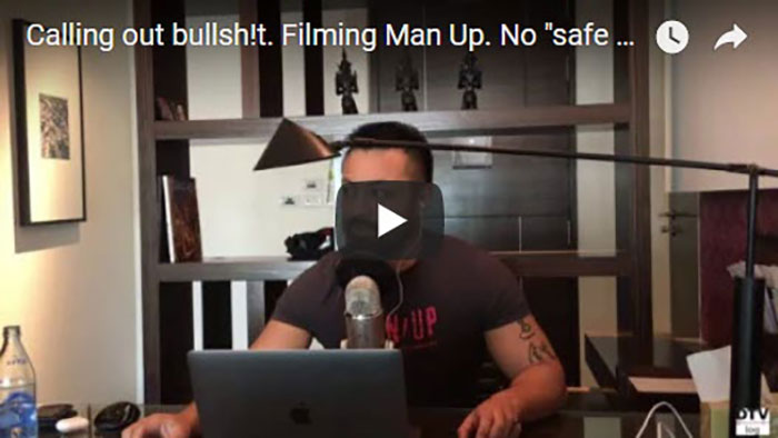 """Calling out bullsh!t. Filming Man Up. No """"safe spaces"""" here 